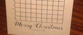 The Chalkdust Christmas card
