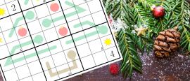 Christmas puzzle #1: Christmas tree sudoku